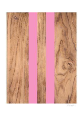 Striped Wood Grain Design - Pink #787