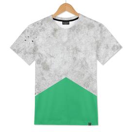 Geometric Concrete Arrow Design - Green #175