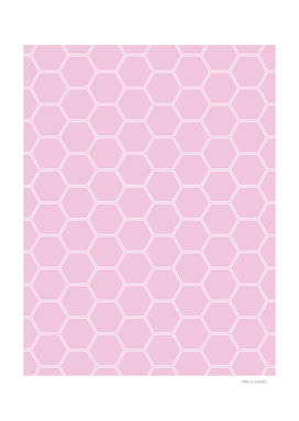 Geometric Honeycomb Pattern - Light Pink #326