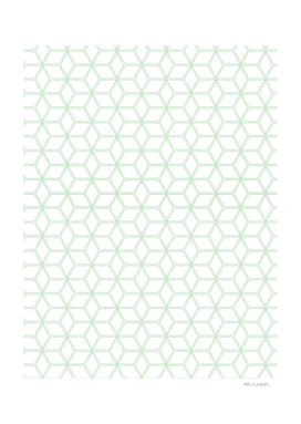 Geometric Hive Mind Pattern - Mint Green #216
