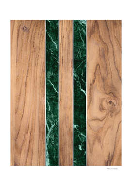 Wood Grain Stripes - Green Granite #901