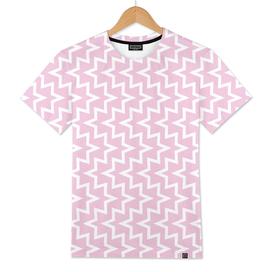 Geometric Sea Urchin Pattern - Light Pink & White #320