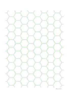 Geometric Honeycomb Pattern - Mint Green #192