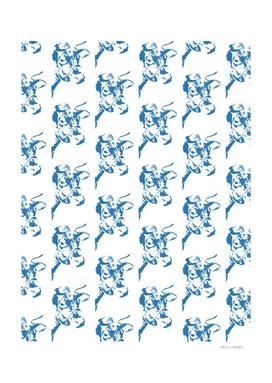 Follow the Herd Pattern - Blue #761