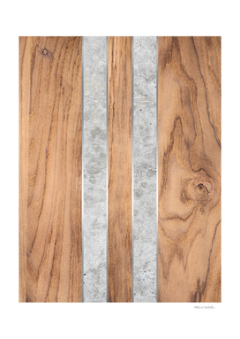 Wood Grain Stripes - Concrete #347