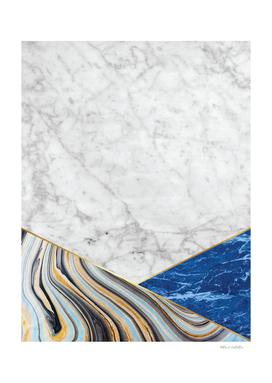 White Marble - Blue Marble & Blue Granite #167