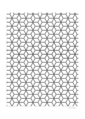 Geometric Hive Mind Pattern - Black #375