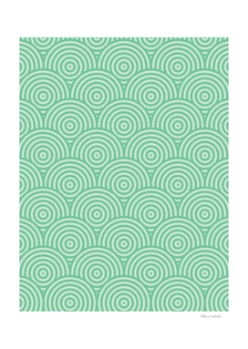Geometric Scales Pattern - Greens #582