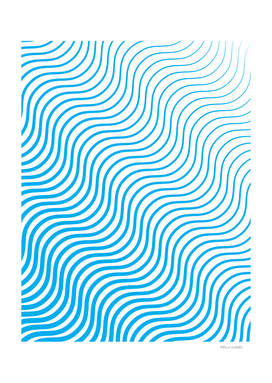 Whisker Pattern - Blue #324