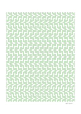 Geometric Sea Urchin Pattern - Light Green & White #609