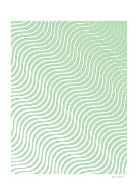Whisker Pattern - Light Green & White #440