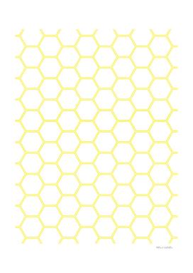 Geometric Honeycomb Pattern - Yellow #164