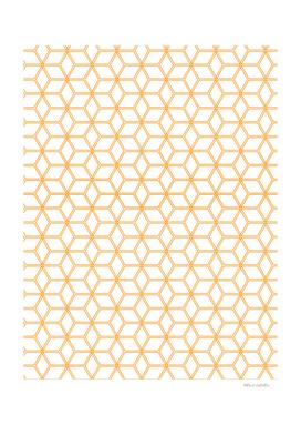 Geometric Hive Mind Pattern - Orange #338