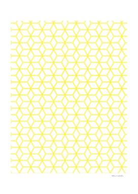 Geometric Hive Mind Pattern - Yellow #193
