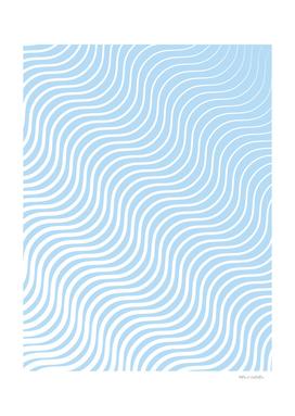 Whisker Pattern - Light Blue & White #285