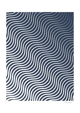 Whisker Pattern - Navy #583