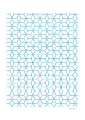 Geometric Hive Mind Pattern - Blue #108