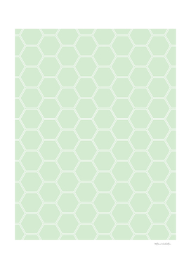 Geometric Honeycomb Pattern - Light Green #273