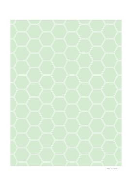 Geometric Honeycomb Pattern - Light Green #273
