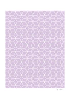 Geometric Hive Mind Pattern - Light Purple #216