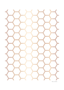 Geometric Honeycomb Pattern - Rose Gold #372