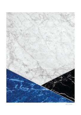 White Marble - Blue Granite & Black Granite #514
