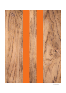 Wood Grain Stripes - Orange #840