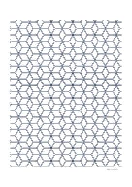 Geometric Hive Mind Pattern - Navy #371