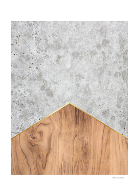 Geometric Concrete Arrow Design - Wood #345