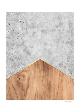 Geometric Concrete Arrow Design - Wood #345