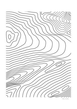 Topographic Line Pattern #440