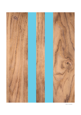 Wood Grain Stripes - Light Blue #807