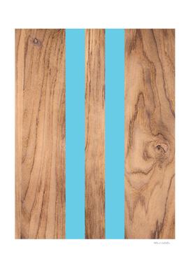 Striped Wood Grain Design - Light Blue #807