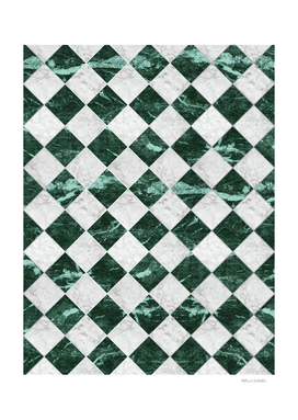Cubic - Green & White Marble #741