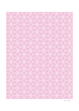 Geometric Hive Mind Pattern - Light Pink #120