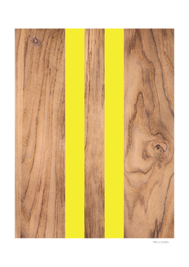Striped Wood Grain Design - Yellow #255