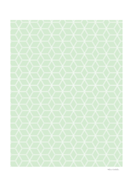 Geometric Hive Mind Pattern - Light Green #395