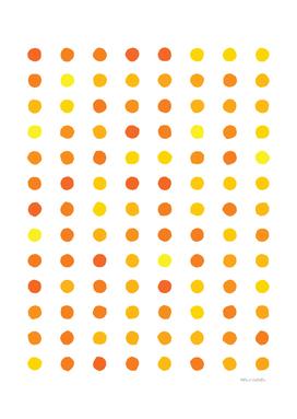 Circular Dalmatian Spots - Sunshine #906