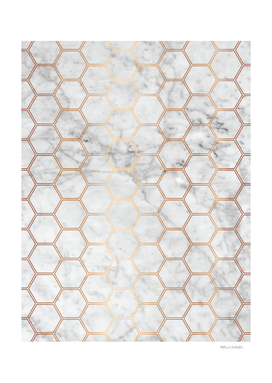 Honeycomb - Marble Rose Gold #358