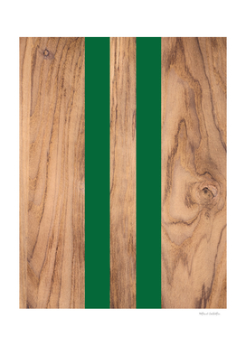 Wood Grain Stripes - Green #319