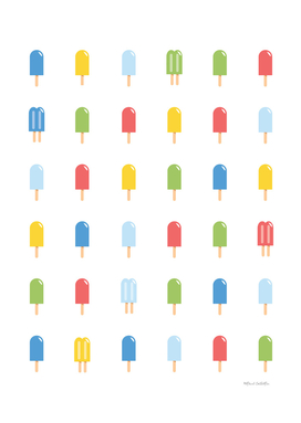 Popsicle Pattern - Bright #426