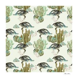 Crocodile pattern on the cactus