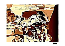 Nude female in Sepia