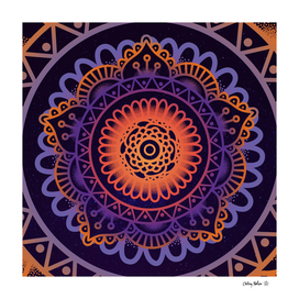 Colorful Mandala of Life - Yoga Art