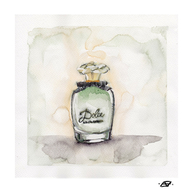 Dolce - Perfume Bottle Painting