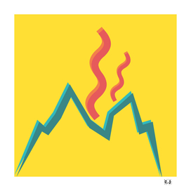 Minimal Yellow Volcano