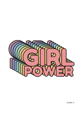 Girl Power grl pwr Retro Art Print