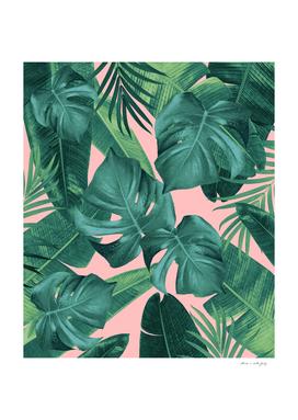 Tropical Summer Jungle Leaves Dream #1 #tropical #decor #art