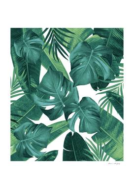 Tropical Summer Jungle Leaves Dream #2 #tropical #decor #art