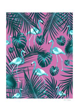 Tropical Flamingo Pattern #5 #tropical #decor #art